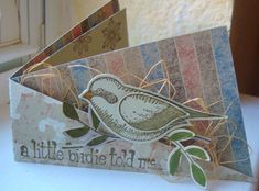 ATC Twisted Bird Nest. Love this cute little card. This inside fold is great for holding gift cards.
