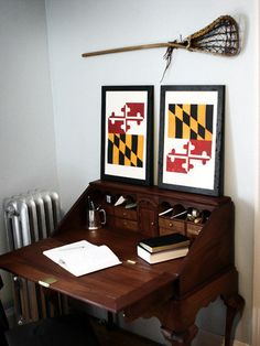 MD Flag Prints - Reminder of home.  Granted, they put them in the wrong order, but still.
