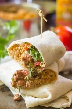 Vegan Seven Layer Burritos