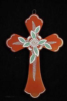Mexican Ceramic Cross by M. Jimon Barba Collectable Folk Art 6