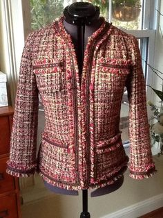 Just Like Coco:  Sewing a Classic Jacket --- You can't go wrong with a Chanel-style cardigan jacket (try Vogue 7975, Vogue 8804, McCalls 6041), but for something a little bit different: •Vogue 8893 has clean lines & many opportunities to incorporate couture sewing •McCall's 6172 is good pattern with length options •McCall's 5668 view A is option that doesn't have closures •Butterick 5617 has more boxy shape •Simplicity 2446 has very classic shape, & is easy to adjust bust size
