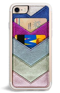 Main Image - Zero Gravity Chevron Faux Leather iPhone & Plus Case (Nordstrom Exclusive) 30 Gifts, Holiday Gifts, Best Friend Gifts, Gifts For Friends, Iphone 6, Iphone Cases, Iphone Wallet, Iphone Leather Case, Valentines Day Gifts For Her