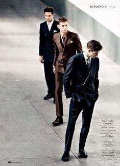 Aiden Andrews, Julien Quevenne, Matvey Lykov & Vinnie Woolston by Sven Baenziger for GQ France  image gqfrancegang2