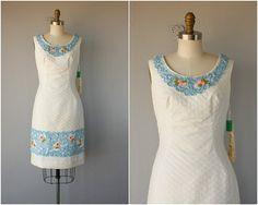 Jahrgang 1950 s Kleid  50er Jahre wackeln von CustardHeartVintage