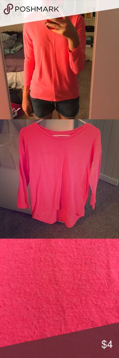 Bright Pink Crew Neck Sweater Super soft, stretchy, and comfy to wear! I loved this, but it just isn't my style anymore😂😂(this is a kids XL but will fit adult small) Old Navy Sweaters Crew & Scoop Necks