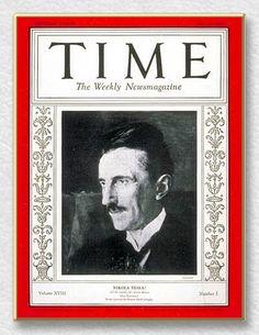 Nikola Tesla on the cover of Time Magazine