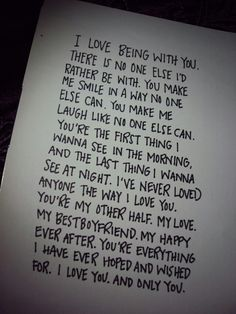 Cute love letter ( for guys AND girls )