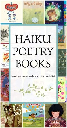 Haiku Poetry Books for Kids Teachers, national poetry month is just around the corner. Check out these books that feature all types of haiku poetry perfect for your young poets. If you need any help during poetry month, don't hesitate to ask! Poetry Books For Kids, Haiku Poems For Kids, Poetry Unit, Poetry Activities, Educational Activities, Sequencing Activities, Educational Websites, Reading Activities, Library Books