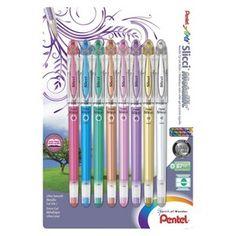 Pentel Slicci Metallic Gel Pen 8 Pieces
