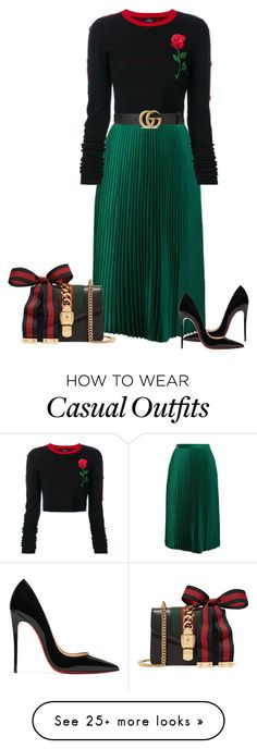 """Casual classy!"" by cristalmichel on Polyvore featuring County Of Milan, Christian Louboutin and Gucci"
