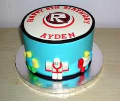 7th Birthday Party Ideas, Birthday Celebration, 8th Birthday, Hockey Birthday Cake, Roblox Cake, Novelty Cakes, Occasion Cakes, Cakes For Boys, Themed Cakes