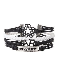 Black Veil Brides Logos Bracelet   Hot Topic OMFG I HAVE THIS!!!!!!!!!!!!!!!!! IT'S REALLY AMAZING YOU NEED TO GET ONE