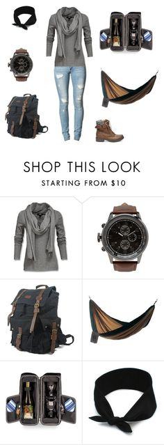 """""""Hiking, Hammocks & Wine"""" by brenna-grassman ❤ liked on Polyvore featuring ODD FUTURE, Steve Madden, 21 Men, NOVICA and Picnic Time"""
