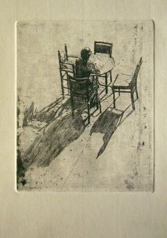 "Andreas Vanpoucke   ' de Molenheidesabbath '  etching - eau forte - lijnets op zink    10,"" cm x 14,7 cm"