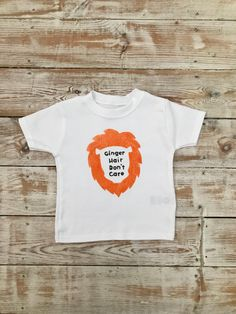 Ginger Hair Don't Care T-shirt - Ginger Toddler - Red Head T-shirt - Funny Toddler Clothes - Organic Baby Clothes - Ginger Lion Mane T Shirts Uk, T Shirts For Women, I Shop, My Etsy Shop, Ginger Hair, Organic Baby, Baby Bodysuit, Don't Care, Trending Outfits