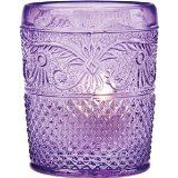 @Denise H. H. Shively love this...perfect for your wedding ideas Purple Vintage Glass Candle Holder - Luna Bazaar