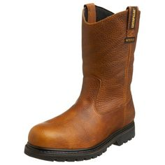Caterpillar Men's Edgework Pull-On Waterproof Steel Boot