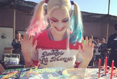 Margot Robbie Got a Harley Quinn Birthday Cake on the Set of Suicide Squad http://comicbook.com/2015/07/03/margot-robbie-got-a-harley-quinn-birthday-cake-on-the-set-of-sui/