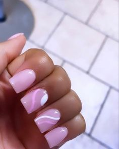Acrylic Nails Coffin Pink, Short Square Acrylic Nails, Pink Nails, Edgy Nails, Swag Nails, Jolie Nail Art, Tapered Square Nails, Drip Nails, Cute Acrylic Nail Designs