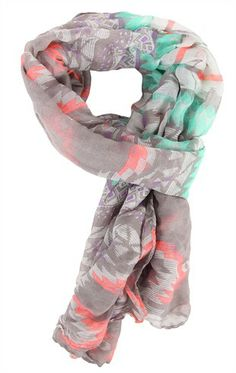 Deb Shops Multicolor #Tribal Print #Scarf $10.90