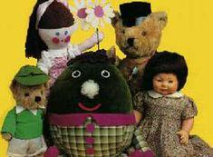 Playschool- Little Ted, Jemima, Humpty, Big Ted and Hamble.