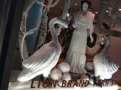 Even for non knitters, the Lion Brand Yarn Studio window in Chelsea rivals anything blingy and baubly on ave