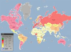 Map of global alcohol consumption.  LOL