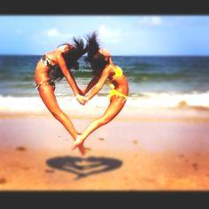 beach Florida heart