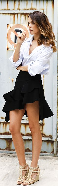 Balenciaga skirt and wedges