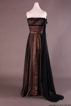 Evening Dress Cristobal Balenciaga, 1953-1954 The Henry Ford Historic Costume Collection