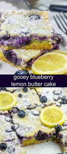 Gooey Blueberry Lemon Butter Cake {A Quick and Easy Snack Cake} lemon/blueberry/cake Ooey gooey and delicious this addicting and flavorful Gooey Blueberry Lemon Butter Cake is quick, easy and absolutely tasty. via @tastesoflizzyt