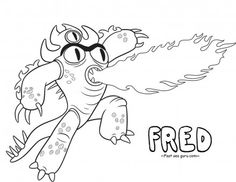 Free Printable Bighero6 Fred Coloring Pages For Kidsfree Onlineprint Out