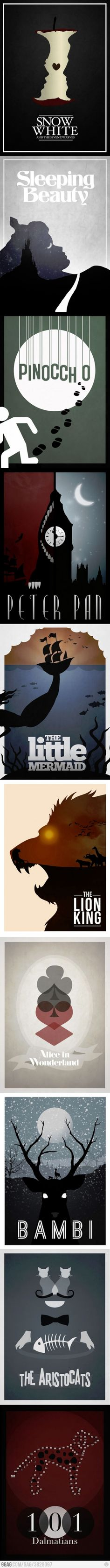 Minimalist Posters Of Disney Films. Not actually funny but cool and worth repinning.