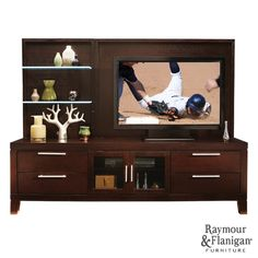 Archer Entertainment Center | This entertainment center will complement your room's contemporary style.