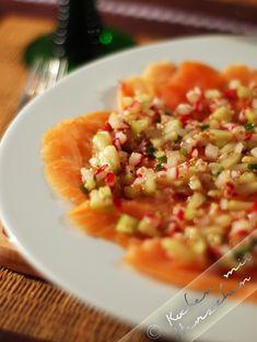 Kochen mit Herzchen - ♥ Mein Koch-Tagebuch mit viel Herz ♥: Lachscarpaccio