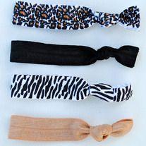 The Judi Set- 4 No-Crease Hair Ties (includes Animal Print!) $7