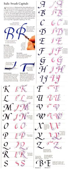 Kalligraphie Italic Swash Capitals Using Mirrors To Open Up A Home Article Body: Many people are sho Calligraphy Fonts Alphabet, Calligraphy Worksheet, Hand Lettering Alphabet, Penmanship, Typography, Lettering Tutorial, Calligraphy Tutorial, Alphabet Design, Creative Lettering