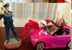 Elf on a shelf idea...lol