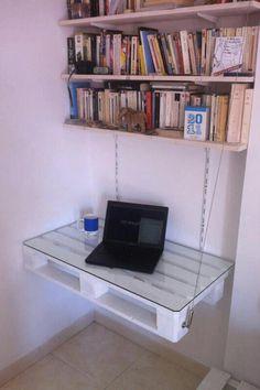 #PALLET: Desk & shelves - http://dunway.info