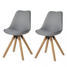 Gestoffeerde stoelen Aledas II (2-delige set) - geweven stof/massief rubberboomhout | home24.nl