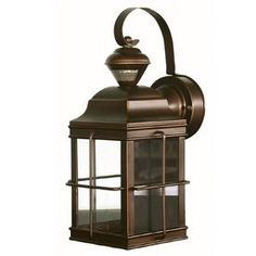 Portfolio�New England Carriage 14.75-in H Antique Bronze Motion Activated Outdoor Wall Light