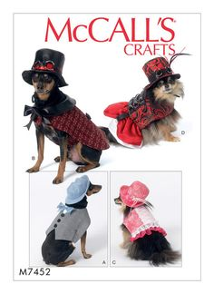 McCalls Pets Clothes Beds Toys Costumes Decor Sewing Patterns