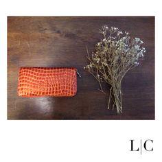 Carteira lux laranja