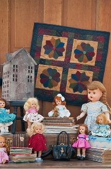 Dresden Delight - Wool Applique Small Quilt - Pattern in Little Quilts in the Coop Two by The Little Red Hen