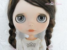 New Soft Resin OOAK REALISTIC custom Blythe eye chips set F19, by Ana Karina. UV laminated