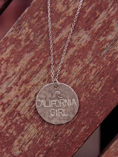 Silver California Girl Necklace