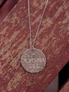 Silver California Girl Necklace
