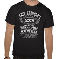 Kris Kringle Whiskey Funny Christmas T-Shirt #whiskey #humor #moonshine #funny