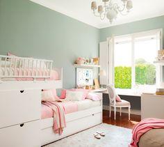 Habitación infantil en rosa y verde 00323558