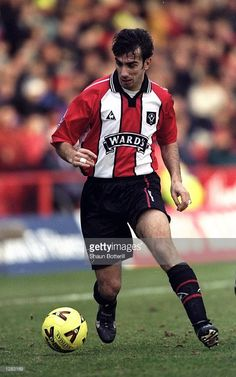 Marcello of Sheffield United in action during the Nationwide Division 1 match against Ipswich at Bramall Lane in Sheffield, England. Ipswich won the game Mandatory Credit: Shaun Botterill /Allsport Sheffield United Fc, Sheffield England, Bramall Lane, Pinterest Marketing, Division, Social Media Marketing, Action, The Unit, Football